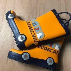 Cat & Jack Toddler Rain Boots size 11 Animal Bus